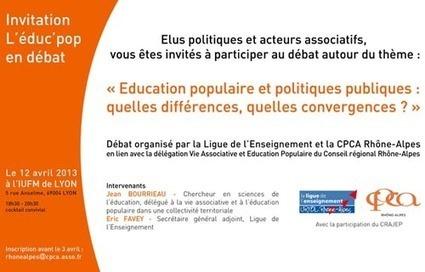 12 avril 2013 - débat : Education populaire et politiques publiques : quelles différences, quelles convergences ? - Lyon - CRESS Rhône-Alpes | CaféAnimé | ESS et EPICERIES SOCIALES SOLIDAIRES | Scoop.it