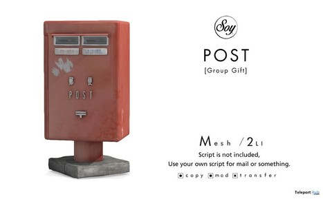Post Box Subscriber Gift by Soy | Teleport Hub - Second Life Freebies | Second Life Freebies | Scoop.it
