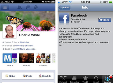 Facebook Plans to Release iPad Timeline Update in January | Social Media Buzz | Scoop.it