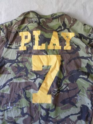PLAY CLOTHS green camouflage Kilroy Was Here henley t-shirt XL | Kilroy Was Here | Scoop.it