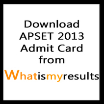 APSET 2013 Admit Card on www.apset.org | Download APSET Hall Ticket 2013 | Apset on GOOD | Exam Results 2014 | Scoop.it