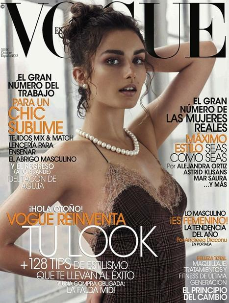 Andreea Diaconu : Feat on the cover of Vogue Espana October 2013 | Fashion Trends | Scoop.it