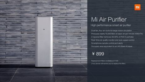 Xiaomi unveiled Air purifier in pre-CES event in China today | i Gadgets World | innovative Gadgets World | iGadgetsworld | Scoop.it