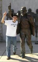 The Joe Paterno Statue on Penn State campus | Scandal at Penn State | Scoop.it