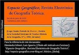 Fundamento de la Teoría del Conocimiento Geográfico. Ponencia, IX Congreso Nacional de Geografía, México, 1993. | Nuevas Geografías | Scoop.it