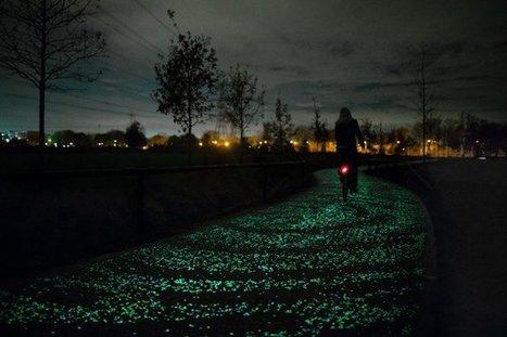 A Glow-In-The-Dark Bicycle Path By Studio Roosegaarde Inspired By Van Gogh | EarthEnergy | Scoop.it
