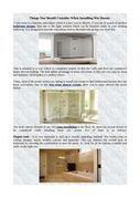 Choices wet room shower screens Design | Shower enclosures | Scoop.it