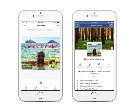 Facebook Starts Letting You Add A 7-Second Looping Video As A Profile Pic | Web site & Social Media Marketing | Scoop.it