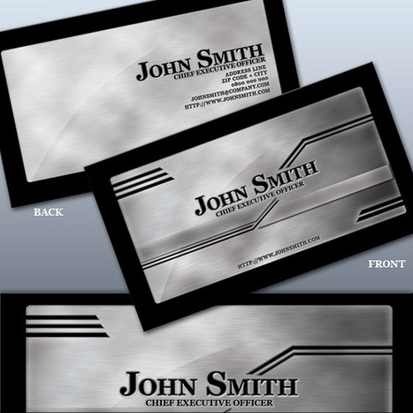 Metallic Business Cards Collection to Inspire You | Xposed | Scoop.it