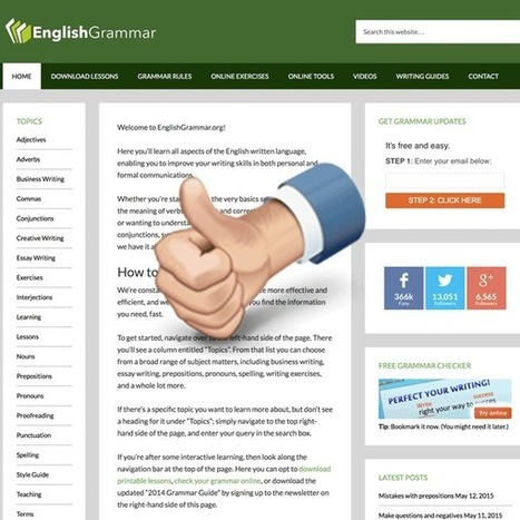 ENGLISH GRAMMAR | English Language Teaching and Learning | Scoop.it