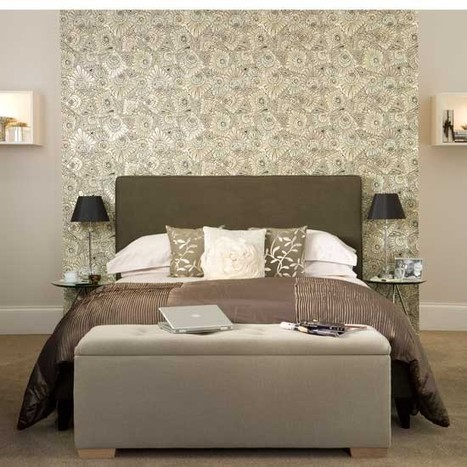 Use feature wallpaper | How to create a hotel-style bedroom | housetohome.co.uk | Bedroom Wallpaper | Scoop.it