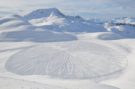 Snow Becomes A Canvas For Intricate, Temporary Art Works | Fast Company | Public Relations & Social Media Insight | Scoop.it