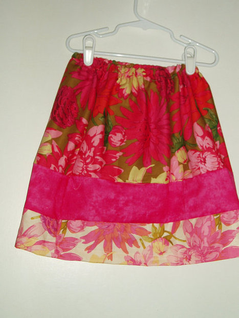 Lovely Handmade Girls Skirt Pink, Purple, Red, Green SIZE 4 | Kids Clothing | Scoop.it