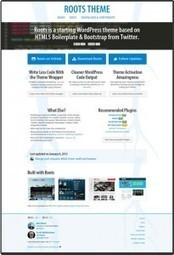Roots: Free Twitter Bootstrap Theme for WordPress | Bootstrap | Scoop.it