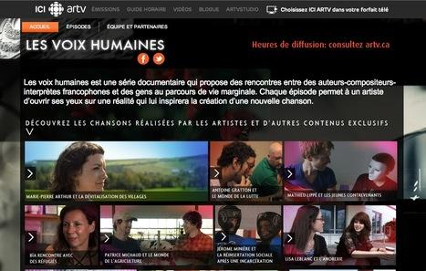 Les voix humaines | ARTV.ca | Beaux sites WordPress | Scoop.it