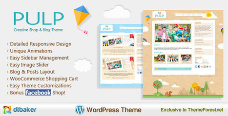 Pulp – Responsive Creative Blog & Shop WP Theme Download | Best Wordpress Themes | Scoop.it