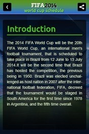 FIFA World Cup Schedule 2014 - Applications Android sur GooglePlay   Jakkash Application   Scoop.it