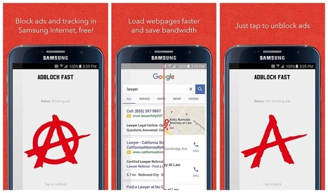 L'app ad-block partenaire de Samsung est dans le viseur de Google - FrAndroid | Téléphone Mobile actus, web 2.0, PC Mac, et geek news | Scoop.it