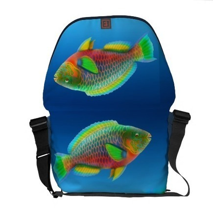 Pacific Reef Parrotfish Rickshaw Messenger Bag from Zazzle.com | Messenger Bags, Purses & Totes | Scoop.it