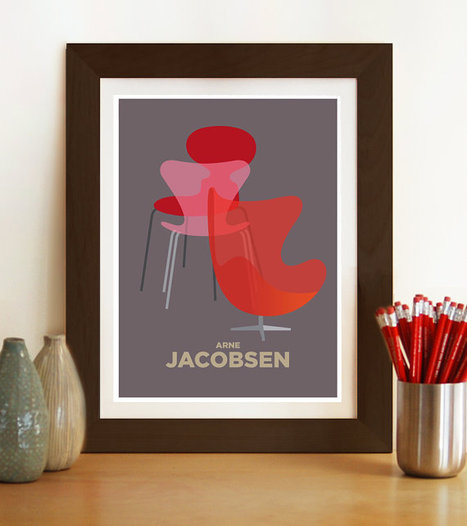 Mid century poster print, ARNE JACOBSEN | Arne Jacobsen | Scoop.it