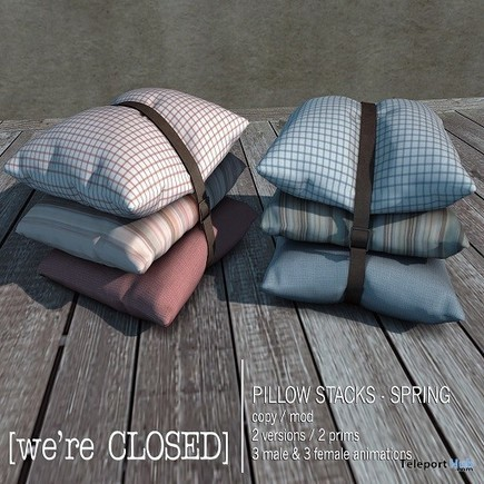 Pillow Stack Spring Pink Midnight Madness 24 Hour Gift by We're Closed | Teleport Hub - Second Life Freebies | Second Life Freebies | Scoop.it