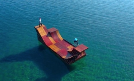 Floating Skate Ramp in Lake Tahoe | What Surrounds You | Scoop.it
