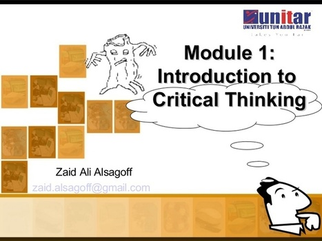 Introduction to Critical Thinking | Aprendizaje basado en proyectos, Evaluación y Competencias Básicas | Scoop.it