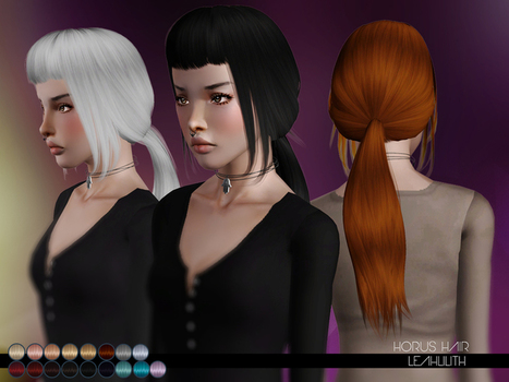 Horus Hair for TS3 by LeahLillith by The Sims Resource | Sims 3 Downloads | Scoop.it