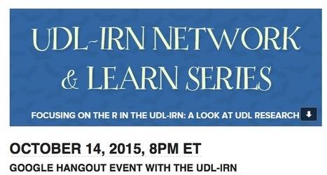"Focusing on the ""R"" in the UDL-IRN Network & Learn Series 