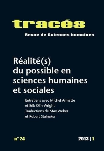 Parution. Réalité(s) du possible en sciences humaines et sociales. | Le carnet de Tracés | La vie des SHS : veille recherche et enseignement | Scoop.it