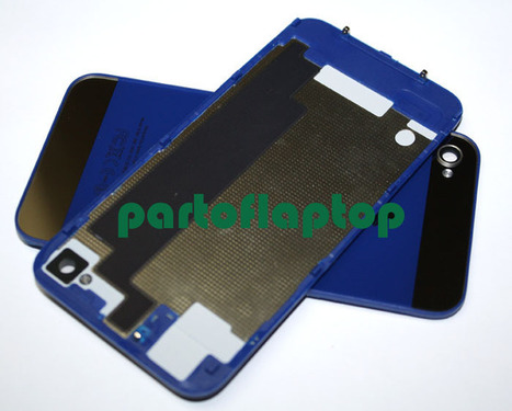 Dark Blue iPhone 4S GLASS Battery Door Back Cover w/ iPhone 5 Style+open TOOLS   iPhone 4S Battery Cover With  iPhone 5 Style   Scoop.it