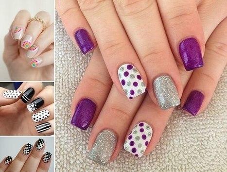 30 Spectacular Polka Dot Nail Art Ideas   Stylish Board   Scoop.it
