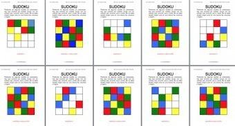colección de SUDOKUS de Colores 4x4 también en inglés | Mathink | Scoop.it
