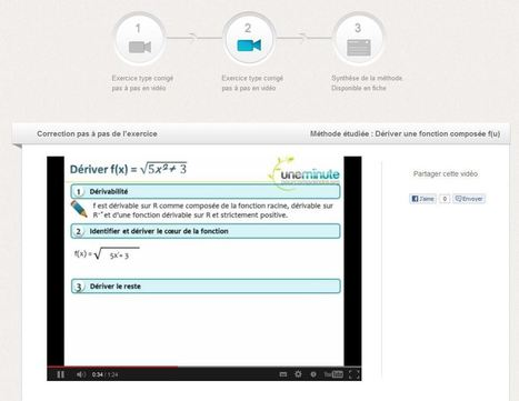 uneminutepourcomprendre : un e-learning en math pour les lycéens... | TUICE_Université_Secondaire | Scoop.it