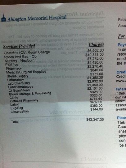 US Hospital Bill Goes Viral: This Is What Childbirth Costs Without A National Health Service   Health, Safety & Welfare Matters, related to Work   Scoop.it