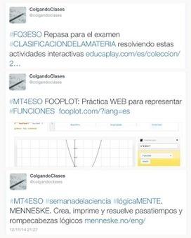 CocinandoClases: #TWITTER EN EL AULA: LA EXPERIENCIA @colgandoclases | Educacion, ecologia y TIC | Scoop.it