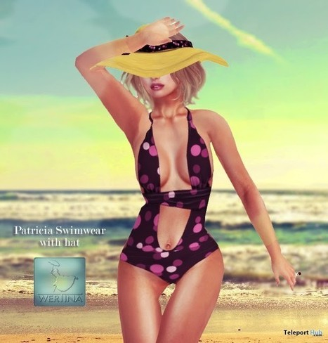 Patricia Swimwear with Hat Color Me Project Group Gift by WERTINA | Teleport Hub - Second Life Freebies | Second Life Freebies | Scoop.it