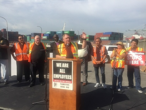 Warehouse workers join port truck drivers on picket line | International Trade | Scoop.it