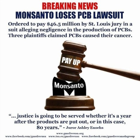 Monsanto Ordered to Pay $46.5 Million in PCB Lawsuit in Rare Win for Plaintiffs | Law Firm News & Marketing | Scoop.it