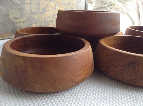 Teak Wooden Salad Bowls | Interior and home decor | Scoop.it