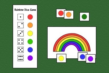 Rainbow Dice Game | Speech-Language Pathology | Scoop.it