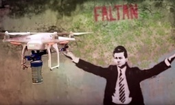 Paint remover: Mexico activists attempt to drone out beleaguered president | Sam Jones | The Geography of Mexico | Scoop.it