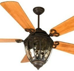 Craftmade OV70AG Outdoor Ceiling Fan with Integrated Light Kit and Custom Blade Options, Aged Bronze | MegaShopMart | Luxury Ceiling Fans with Lights | Scoop.it