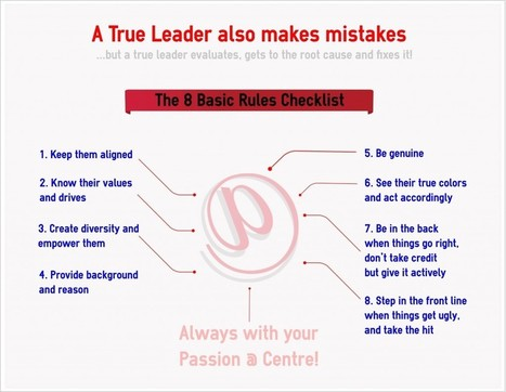 8 Simple Rules to be a true Leader | Emprendimiento por pasión | Scoop.it