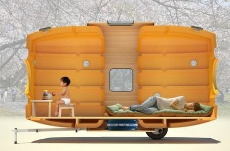 Taku-Tanku portable tiny house can be towed by bike | Five Regions of the Future | Scoop.it