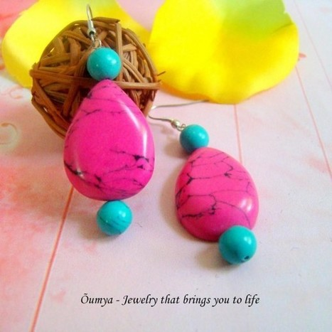 Pink drop earrings - Craftsia - Indian Handmade Products & Gifts | Indian Handmade Jewelry | Scoop.it