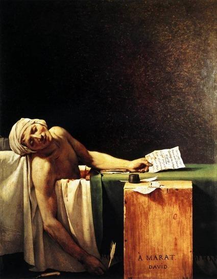 The Death of Marat (French: La Mort de Marat or... - A little bit purple   Death of Marat   Scoop.it