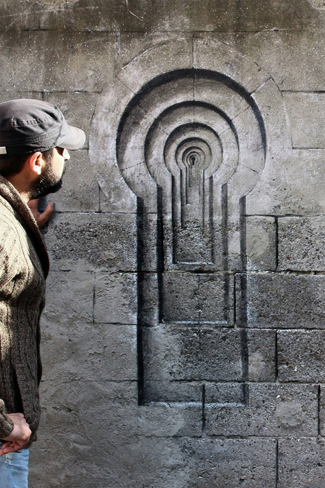 Trompe-l'œil Window and Keyhole Illusions on the Streets of Istanbul by Pejac | Culture and Fun - Art | Scoop.it