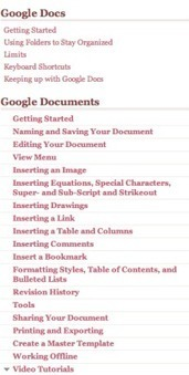One Stop Resource for Google Docs | Google Apps for Education | Scoop.it