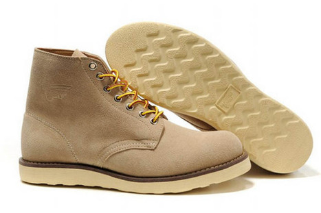 Mens Red Wing Heritage 8181 6 Round Boots Apricot | new and share style | Scoop.it